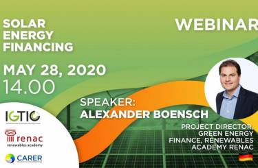 GREEN WEBINAR: SOLAR ENERGY FINANCING