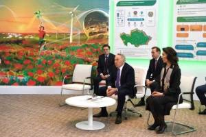Nursultan Nazarbayev examined prototype of digital platform on Kazakhstan's RES
